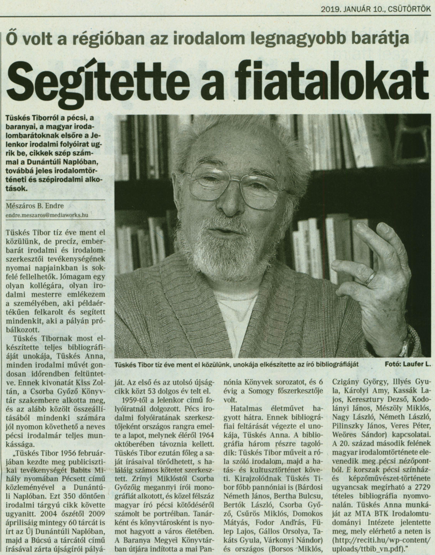 Tüskés Tibor bibliográfia