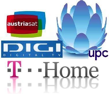 T-Home, UPC, Digi Tv, Austriasat.