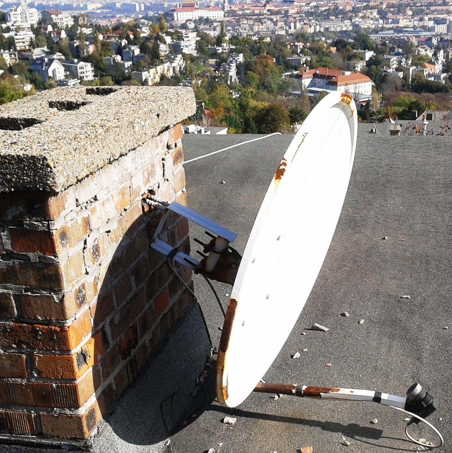 Antenna leszerelés, bontás, felújítás.