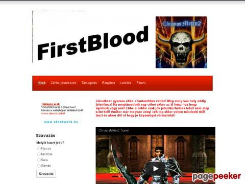 Firstblood - FirstBlood - Hírek