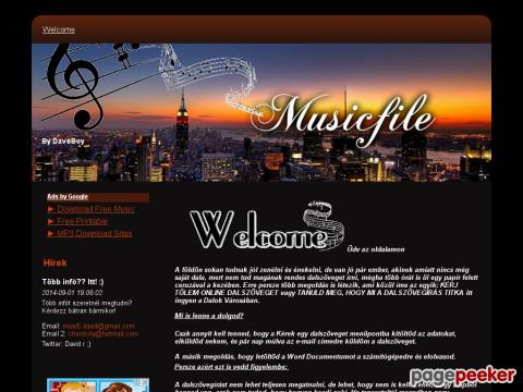 Musicfile - Welcome - By DaveBoy
