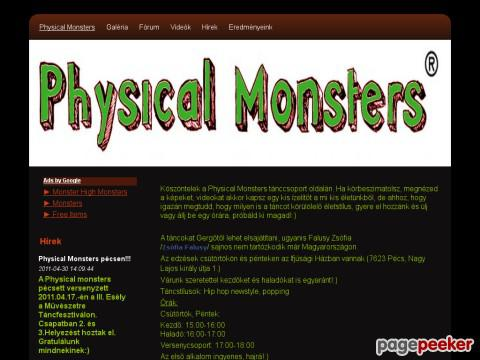 Physicalmonsters - physical monsters