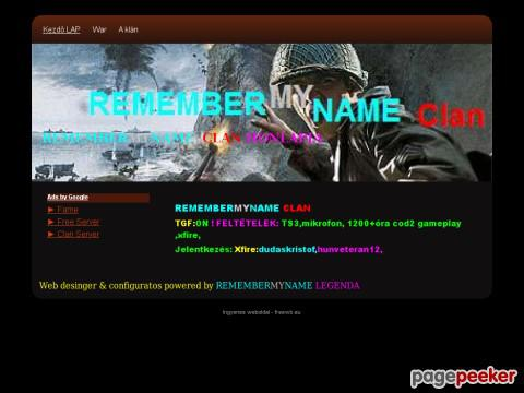 Remembermynameclan - REMEMBERMYNAME CLAN HONLAPJA