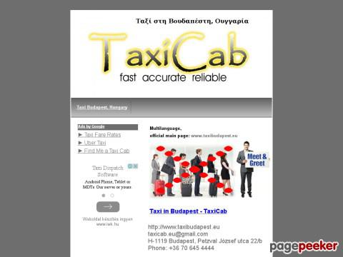 Taxi - Ταξί στη Βουδαπέστη, Ουγγαρ ...