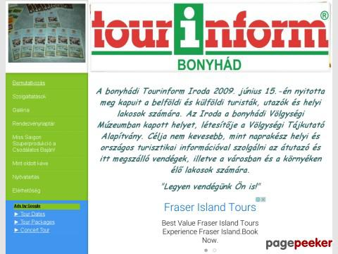 Tourinformbonyhad - Tourinform Bonyhád