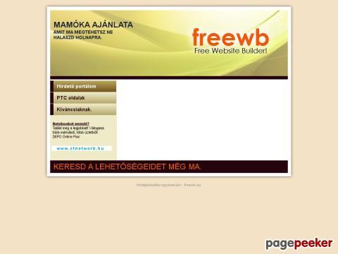 ebaffb18aa freewb.hu Weboldal készítővel készített ingyenes weboldalak